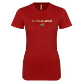 Next Level Ladies SoftStyle Junior Fitted Cardinal Tee-Go Roadrunners