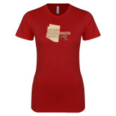 Next Level Ladies SoftStyle Junior Fitted Cardinal Tee-Tuscon Roadrunners Hockey w/ State