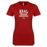 Next Level Ladies SoftStyle Junior Fitted Cardinal Tee-Real Women Watch Hockey