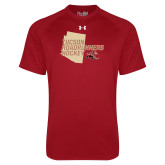 Under Armour Cardinal Tech Tee-Tuscon Roadrunners Hockey w/ State