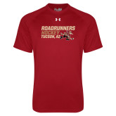 Under Armour Cardinal Tech Tee-Roadrunners Hockey Stacked