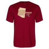 Performance Cardinal Tee-Tuscon Roadrunners Hockey w/ State