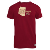 Russell Cardinal Essential T Shirt-Tuscon Roadrunners Hockey w/ State