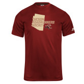 Russell Core Performance Cardinal Tee-Tuscon Roadrunners Hockey w/ State