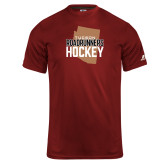 Russell Core Performance Cardinal Tee-Tuscon Roadrunners Hockey w/ State Stacked