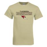 Khaki Gold T Shirt-Tucson Roadrunners Stacked