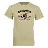 Khaki Gold T Shirt-Arched Roadrunners Hockey Design