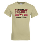 Khaki Gold T Shirt-Roadrunners Hockey Design