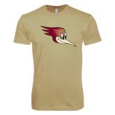 Next Level SoftStyle Khaki T Shirt-Mascot Head