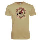 Next Level SoftStyle Khaki T Shirt-Roadrunners Circle Design
