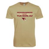 Next Level SoftStyle Khaki T Shirt-Stacked Roadrunners Hockey Design