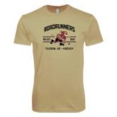 Next Level SoftStyle Khaki T Shirt-Arched Roadrunners Hockey Design