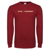 Cardinal Long Sleeve T Shirt-Crossed Hockey Sticks
