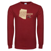 Cardinal Long Sleeve T Shirt-Tuscon Roadrunners Hockey w/ State