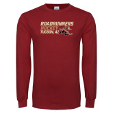 Cardinal Long Sleeve T Shirt-Roadrunners Hockey Stacked