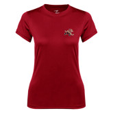 Ladies Syntrel Performance Cardinal Tee-Mascot