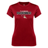 Ladies Syntrel Performance Cardinal Tee-Tucson Roadrunners Stacked