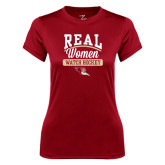 Ladies Syntrel Performance Cardinal Tee-Real Women Watch Hockey