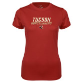 Ladies Syntrel Performance Cardinal Tee-Tuscon Roadrunners - Lines