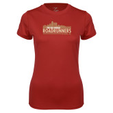 Ladies Syntrel Performance Cardinal Tee-The Old Pueblo