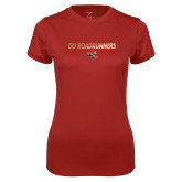 Ladies Syntrel Performance Cardinal Tee-Go Roadrunners