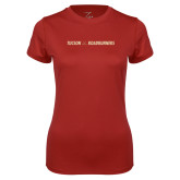 Ladies Syntrel Performance Cardinal Tee-Crossed Hockey Sticks