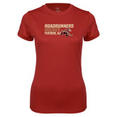 Ladies Syntrel Performance Cardinal Tee-Roadrunners Hockey Stacked