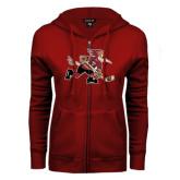 ENZA Ladies Cardinal Fleece Full Zip Hoodie-Mascot