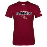 Adidas Cardinal Logo T Shirt-Tucson Roadrunners Stacked