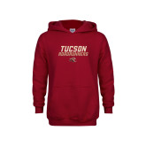 Youth Cardinal Fleece Hoodie-Tuscon Roadrunners - Lines