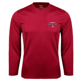 Performance Cardinal Longsleeve Shirt-Tucson Roadrunners Stacked