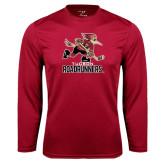 Performance Cardinal Longsleeve Shirt-Official Logo