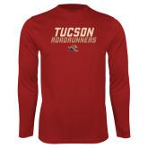 Performance Cardinal Longsleeve Shirt-Tuscon Roadrunners - Lines