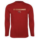 Performance Cardinal Longsleeve Shirt-Go Roadrunners