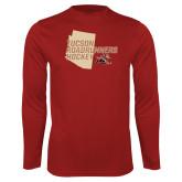 Performance Cardinal Longsleeve Shirt-Tuscon Roadrunners Hockey w/ State