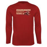 Performance Cardinal Longsleeve Shirt-Roadrunners Hockey Stacked