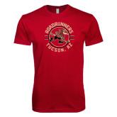 Next Level SoftStyle Cardinal T Shirt-Roadrunners Circle Design