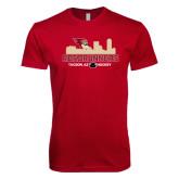 Next Level SoftStyle Cardinal T Shirt-Roadrunners City Design