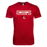 Next Level SoftStyle Cardinal T Shirt-Stacked Roadrunners Hockey Design