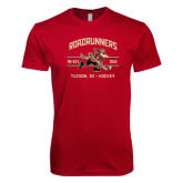 Next Level SoftStyle Cardinal T Shirt-Arched Roadrunners Hockey Design