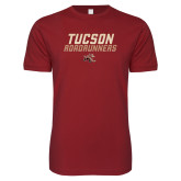 Next Level SoftStyle Cardinal T Shirt-Tuscon Roadrunners - Lines