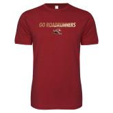 Next Level SoftStyle Cardinal T Shirt-Go Roadrunners