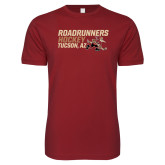 Next Level SoftStyle Cardinal T Shirt-Roadrunners Hockey Stacked