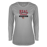 Ladies Syntrel Performance Platinum Longsleeve Shirt-Real Women Watch Hockey