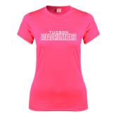 Ladies Performance Hot Pink Tee-Tucson Roadrunners