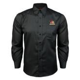 Red House Black Long Sleeve Shirt-Badge Design