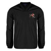 V Neck Black Raglan Windshirt-Mascot