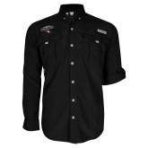 Columbia Bahama II Black Long Sleeve Shirt-Tucson Roadrunners Stacked