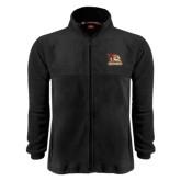 Fleece Full Zip Black Jacket-Badge Design