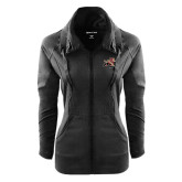 Ladies Sport Wick Stretch Full Zip Black Jacket-Mascot